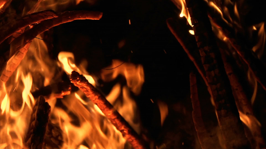 ultra slow motion shot of fire flames and glowing ashes on black background- Stock Photo or Stock Video of rcfotostock | RC-Photo-Stock