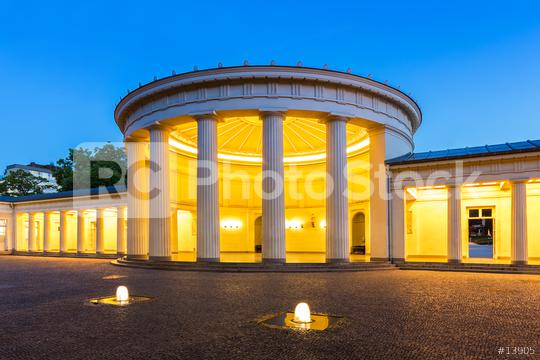 fountain Elisenbrunnen in Aachen at night  : Stock Photo or Stock Video Download rcfotostock photos, images and assets rcfotostock | RC-Photo-Stock.: