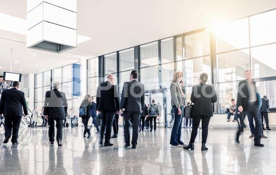 Gruppe Geschäftsleute auf Messe oder Kongress  : Stock Photo or Stock Video Download rcfotostock photos, images and assets rcfotostock | RC-Photo-Stock.: