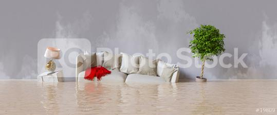 Wasserschaden nach Hochwasser im Haus  : Stock Photo or Stock Video Download rcfotostock photos, images and assets rcfotostock | RC-Photo-Stock.: