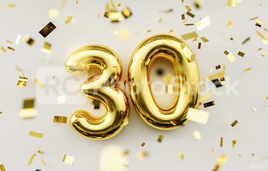 30 years old. Gold balloons number 30th anniversary, happy birthday congratulations  : Stock Photo or Stock Video Download rcfotostock photos, images and assets rcfotostock | RC-Photo-Stock.: