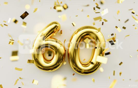 60 years old. Gold balloons number 60th anniversary, happy birthday congratulations  : Stock Photo or Stock Video Download rcfotostock photos, images and assets rcfotostock | RC-Photo-Stock.: