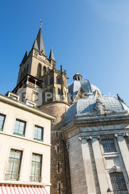Aachen Cathedral (Aachen dom) in summer  : Stock Photo or Stock Video Download rcfotostock photos, images and assets rcfotostock | RC-Photo-Stock.: