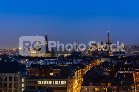 aachen cathedral (Aachener Dom) and town hall at night  : Stock Photo or Stock Video Download rcfotostock photos, images and assets rcfotostock | RC-Photo-Stock.: