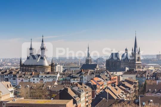 Aachen cathedral (Aachener Dom) with town hall  : Stock Photo or Stock Video Download rcfotostock photos, images and assets rcfotostock | RC-Photo-Stock.: