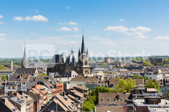 Aachen Cathedral at summer  : Stock Photo or Stock Video Download rcfotostock photos, images and assets rcfotostock | RC-Photo-Stock.: