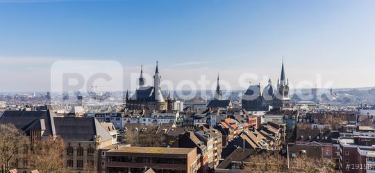 aachen cathedral (Dom) and town hall panoramic view  : Stock Photo or Stock Video Download rcfotostock photos, images and assets rcfotostock | RC-Photo-Stock.: