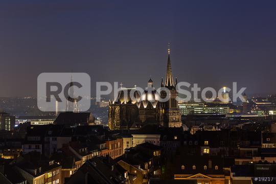 aachen cathedral (Dom) at night  : Stock Photo or Stock Video Download rcfotostock photos, images and assets rcfotostock | RC-Photo-Stock.: