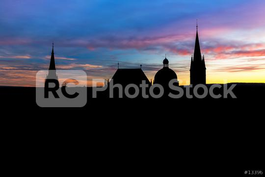 Aachen Cathedral silhouette  : Stock Photo or Stock Video Download rcfotostock photos, images and assets rcfotostock | RC-Photo-Stock.: