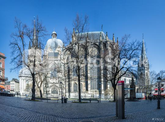 aachen cathedral with minster place in germany  : Stock Photo or Stock Video Download rcfotostock photos, images and assets rcfotostock | RC-Photo-Stock.: