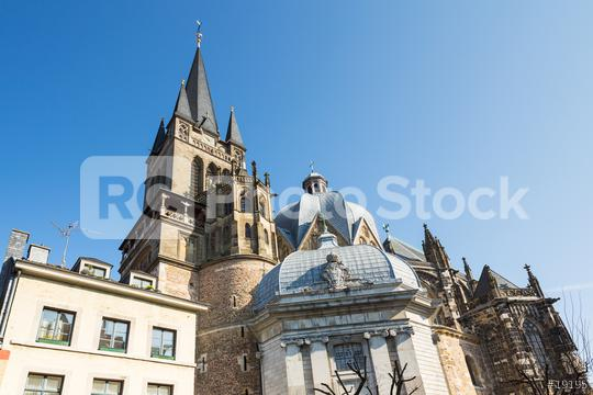 Aachen Cathedral with Westwerk tower (UNESCO world heritage sites)  : Stock Photo or Stock Video Download rcfotostock photos, images and assets rcfotostock   RC-Photo-Stock.: