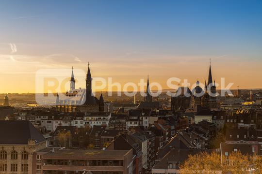 Aachen city skyline at morning  : Stock Photo or Stock Video Download rcfotostock photos, images and assets rcfotostock | RC-Photo-Stock.: