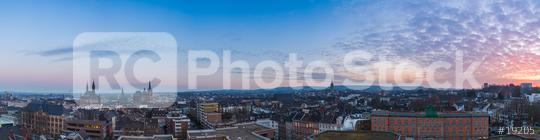 Aachen city skyline panorama at sunset  : Stock Photo or Stock Video Download rcfotostock photos, images and assets rcfotostock   RC-Photo-Stock.: