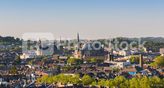 Aachen city with town hall and cathedral at summer  : Stock Photo or Stock Video Download rcfotostock photos, images and assets rcfotostock | RC-Photo-Stock.: