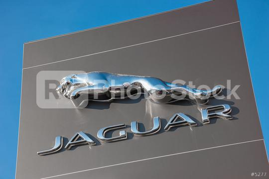 AACHEN, GERMANY JANUARY, 2017: Brand logo of Jaguar. Jaguar/Land Rover is a British multinational car manufacturer headquartered in Whitley, Coventry, England, owned byTata Motors since 2008.  : Stock Photo or Stock Video Download rcfotostock photos, images and assets rcfotostock | RC-Photo-Stock.: