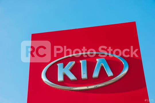 AACHEN, GERMANY JANUARY, 2017: Kia automobile dealership Sign. Kia is a South Korean manufacturer of automobiles and commercial vehicles.  : Stock Photo or Stock Video Download rcfotostock photos, images and assets rcfotostock | RC-Photo-Stock.: