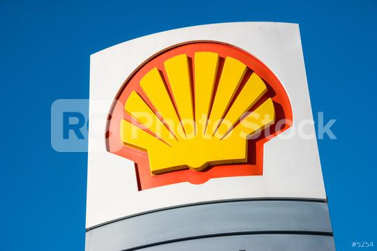 AACHEN, GERMANY JANUARY, 2017: Sign of the Shell Oil Company. Shell Oil Company is United States-based subsidiary of Royal Dutch Shell, a multinational oil company.  : Stock Photo or Stock Video Download rcfotostock photos, images and assets rcfotostock   RC-Photo-Stock.: