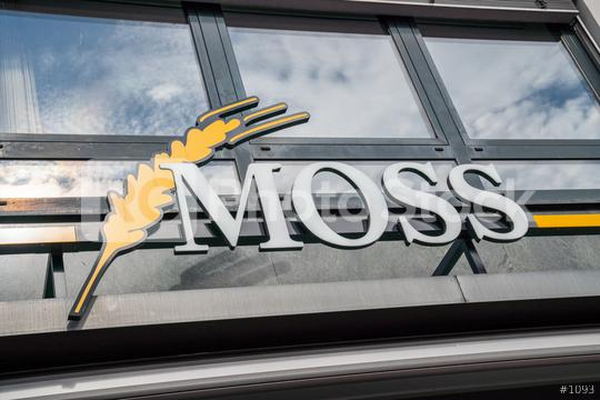 AACHEN, GERMANY JULY 2019:  Moss bakery Store Logo. Headquartered in Aachen, Moss is a bakery company since 1925, with bakeries and bakery cafes in and around Aachen.  : Stock Photo or Stock Video Download rcfotostock photos, images and assets rcfotostock   RC-Photo-Stock.: