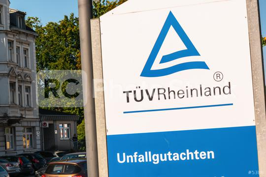 """AACHEN, GERMANY JULY 2019: The Logo of the """"TÜV Rheinland Deutschland"""". The TÜV Rheinland AG is an internationally active, independent test service provider based in Cologne.  : Stock Photo or Stock Video Download rcfotostock photos, images and assets rcfotostock 