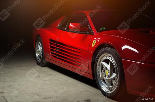 Aachen, Germany, June 14, 2013: Arranged Street shot of an historic Ferrari 512B testarossa Car.   : Stock Photo or Stock Video Download rcfotostock photos, images and assets rcfotostock | RC-Photo-Stock.: