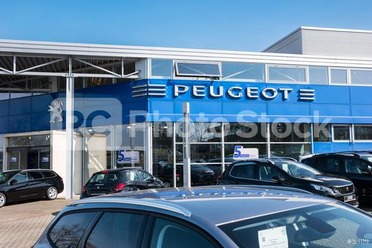 AACHEN, GERMANY MARCH, 2017: Office of official Peugeot dealer. Peugeot is a French automobile manufacturer and part of Groupe PSA.  : Stock Photo or Stock Video Download rcfotostock photos, images and assets rcfotostock | RC-Photo-Stock.: