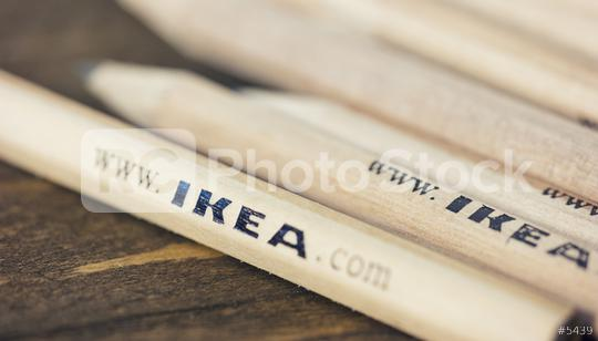 AACHEN, GERMANY OCTOBER, 2017: Classic IKEA pencils available in each store Ikea worldwide. IKEA Founded in Sweden in 1943, Ikea is the world