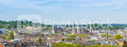 aachen skyline with town hall and cathedral panorama  : Stock Photo or Stock Video Download rcfotostock photos, images and assets rcfotostock | RC-Photo-Stock.: