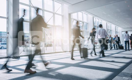 Abstract blurred Business people walking in the office corridor  : Stock Photo or Stock Video Download rcfotostock photos, images and assets rcfotostock | RC-Photo-Stock.: