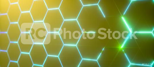 Abstract futuristic surface hexagon pattern with light rays  : Stock Photo or Stock Video Download rcfotostock photos, images and assets rcfotostock | RC-Photo-Stock.: