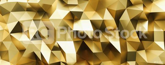 abstract gold crystal low poly background, luxery gold metallic texture,  panorama, wide panoramic polygonal wallpaper  : Stock Photo or Stock Video Download rcfotostock photos, images and assets rcfotostock   RC-Photo-Stock.: