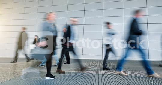 Abstract Image of Business People Walking on a tradeshow  : Stock Photo or Stock Video Download rcfotostock photos, images and assets rcfotostock | RC-Photo-Stock.: