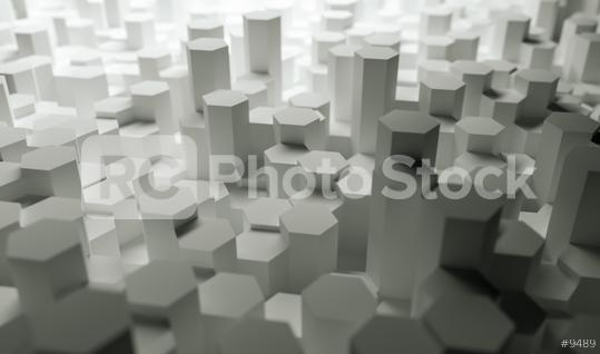 Abstract paper Hexagon white Background - 3D rendering - Illustration   : Stock Photo or Stock Video Download rcfotostock photos, images and assets rcfotostock | RC-Photo-Stock.:
