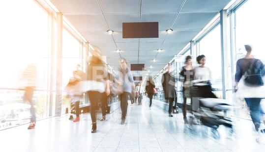 abstrakt image of people in a modern corridor  : Stock Photo or Stock Video Download rcfotostock photos, images and assets rcfotostock | RC-Photo-Stock.: