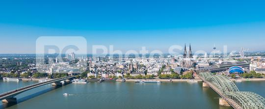 Aerial view of Cologne city at summer  : Stock Photo or Stock Video Download rcfotostock photos, images and assets rcfotostock   RC-Photo-Stock.: