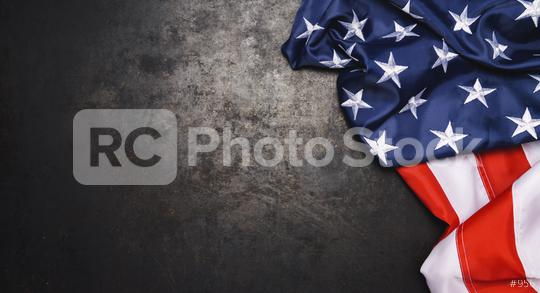 American flag freely lying on metallic board.  : Stock Photo or Stock Video Download rcfotostock photos, images and assets rcfotostock | RC-Photo-Stock.: