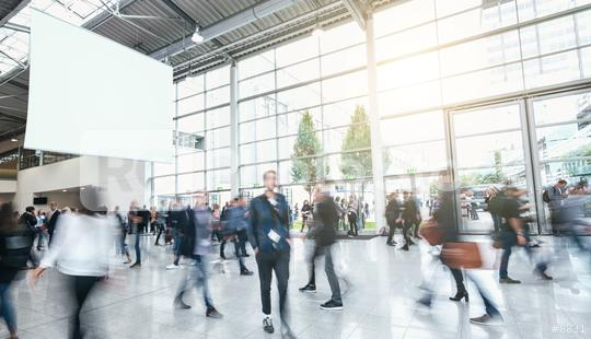 Anonymous Blurred business people at a trade fair  : Stock Photo or Stock Video Download rcfotostock photos, images and assets rcfotostock | RC-Photo-Stock.:
