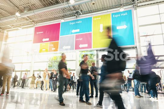 Anonymous Blurred businesspeople at a trade fair  : Stock Photo or Stock Video Download rcfotostock photos, images and assets rcfotostock | RC-Photo-Stock.: