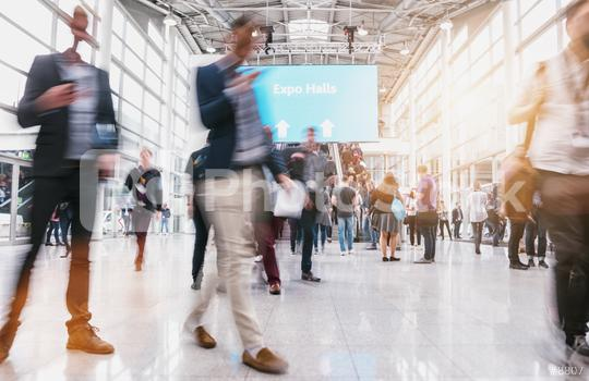 anonymous blurred people at a expo  : Stock Photo or Stock Video Download rcfotostock photos, images and assets rcfotostock | RC-Photo-Stock.: