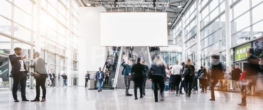 anonymous blurred people rushing at a trade fair   : Stock Photo or Stock Video Download rcfotostock photos, images and assets rcfotostock | RC-Photo-Stock.: