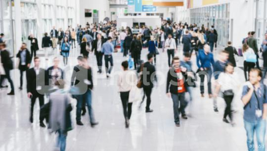anonymous blurred people walking in a modern hall of a Exhibition  : Stock Photo or Stock Video Download rcfotostock photos, images and assets rcfotostock | RC-Photo-Stock.: