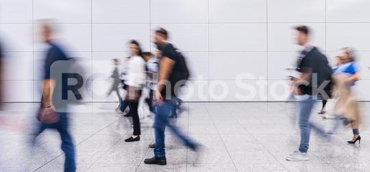 Anonymous crowd of business people in hall of a modern trade fair  : Stock Photo or Stock Video Download rcfotostock photos, images and assets rcfotostock | RC-Photo-Stock.: