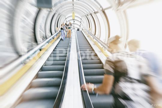 anonymous people rushing on a escalator  : Stock Photo or Stock Video Download rcfotostock photos, images and assets rcfotostock | RC-Photo-Stock.: