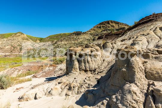 Badlands in Alberta Canada at Summer  : Stock Photo or Stock Video Download rcfotostock photos, images and assets rcfotostock | RC-Photo-Stock.: