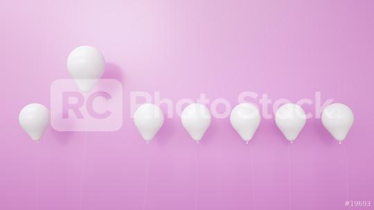 balloon between white balloons as challenge or leadership concept pink background - 3D Rendering  : Stock Photo or Stock Video Download rcfotostock photos, images and assets rcfotostock   RC-Photo-Stock.: