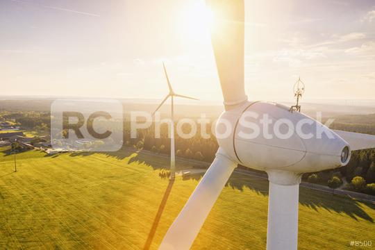 Beautiful sunset above the windmills on the field  : Stock Photo or Stock Video Download rcfotostock photos, images and assets rcfotostock | RC-Photo-Stock.: