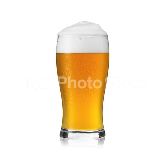 Beer glass with beer foam crown and fresh waterdrop dew golden party alcohol brewery cutout on white background  : Stock Photo or Stock Video Download rcfotostock photos, images and assets rcfotostock | RC-Photo-Stock.: