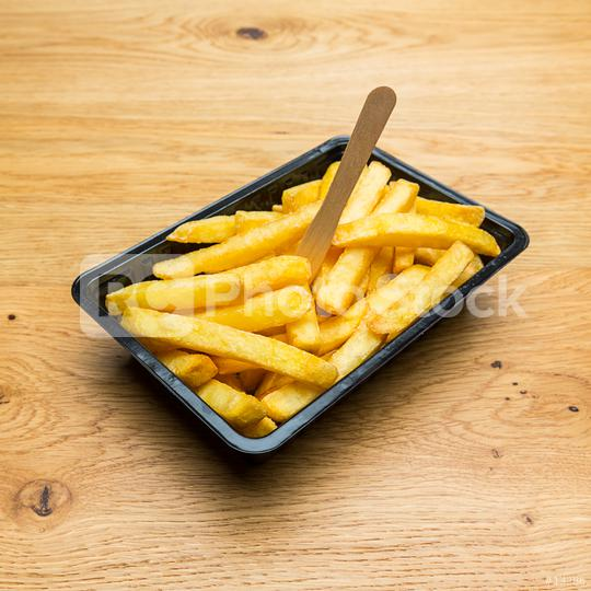 Belgian fries in a black shell  : Stock Photo or Stock Video Download rcfotostock photos, images and assets rcfotostock | RC-Photo-Stock.: