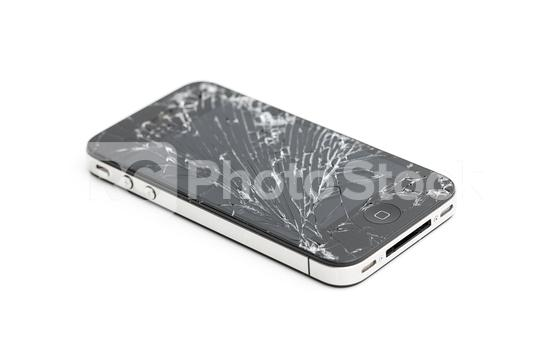 BERLIN, DEUTSCHLAND AUGUST 2019: Studio shot of an iPhone 5s with seriously broken retina display screen isolated on white. iPhone 5 is a smartphone developed by Apple Inc.  : Stock Photo or Stock Video Download rcfotostock photos, images and assets rcfotostock | RC-Photo-Stock.: