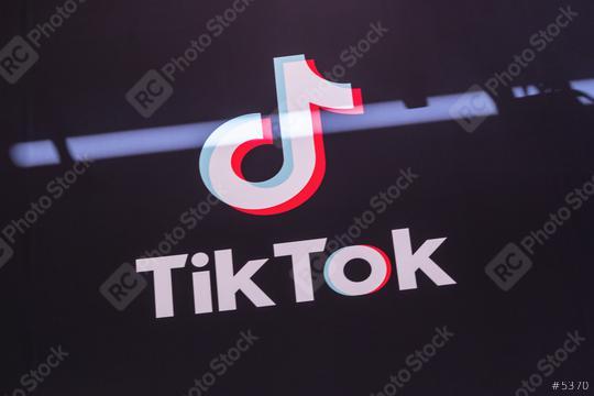 BERLIN, GERMANY JULY 2019: Tik Tok logo close-up. Tik Tok icon. tik tok application. Tiktok is a Social media network.  : Stock Photo or Stock Video Download rcfotostock photos, images and assets rcfotostock   RC-Photo-Stock.: