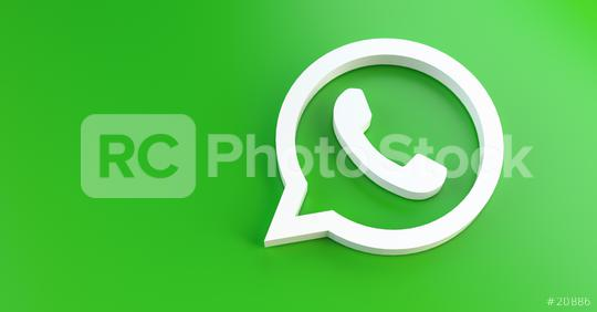 BERLIN, GERMANY JUNE 2021: WhatsApp logo for web sites, mobile applications, banners, printed on green plastic background. WhatsApp is an instant messaging app for smartphones.  : Stock Photo or Stock Video Download rcfotostock photos, images and assets rcfotostock   RC-Photo-Stock.: